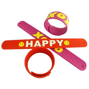 Adult Silicone Slap Wrap Wristbands
