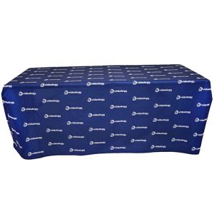 Corporate branded table cloths branded with company logos