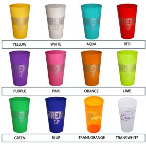 Which colour will you choose for your promotional plastic cups?