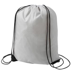 Budget Nylon Drawstring Bags in Grey