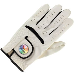 Ball Marker Golf Glove in White