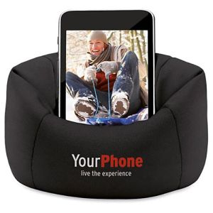 Bean Bag Phone Holders in Black