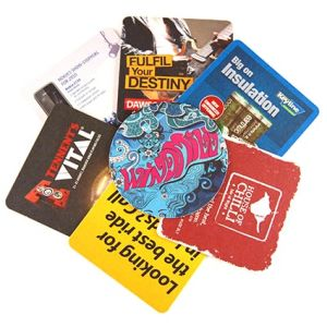 Custom printed beer mats for parties