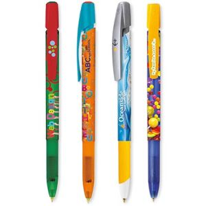 Custom ballpens with company artwork