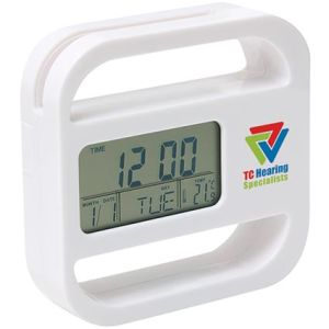 Promotional Bianco Multi Function Clocks for merchandise ideas