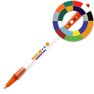 Corporate branded pens with company logos