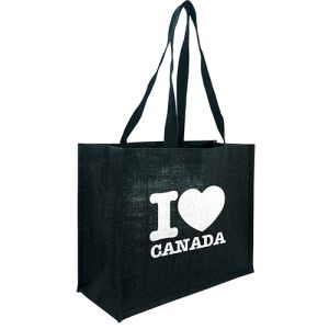 Black Taunton Jute Shopper Bags