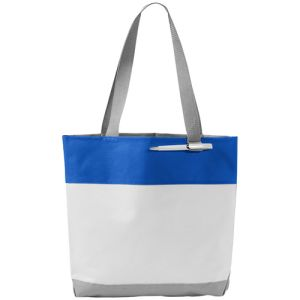 Bloomington Tote Bags in White/Blue