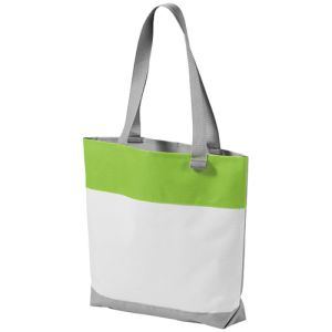 Bloomington Tote Bags in White/Lime