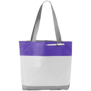 Bloomington Tote Bags in White/Purple
