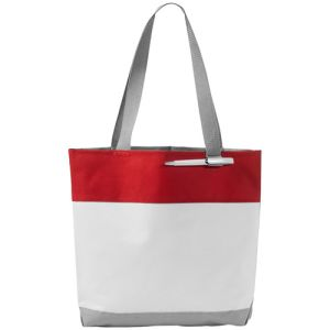 Bloomington Tote Bags in White/Red