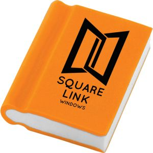 Book Shaped Erasers in Orange