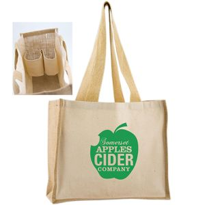 Bottle Holder Tote Bags