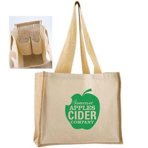 Bottle Holder Tote Bags