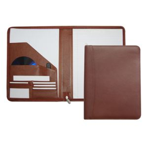 Melbourne Leather Zipped A4 Folders