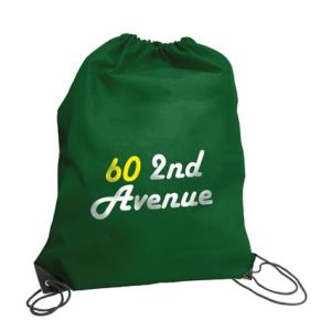 Budget Nylon Drawstring Bags in Dark Green