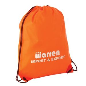Budget Nylon Drawstring Bags in Orange