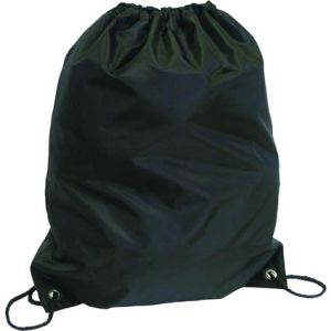 Budget Nylon Drawstring Bags in Black