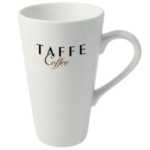 Butch Cafe Latte Mug in White