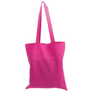 Pink Printed Cotton Tote Bags for Giveaways
