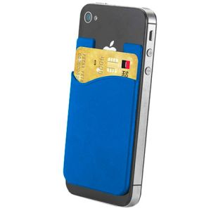 Sticky Phone Card Holders in Blue