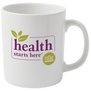 Corporate branded Cambridge Mugs in white from Total Merchandise