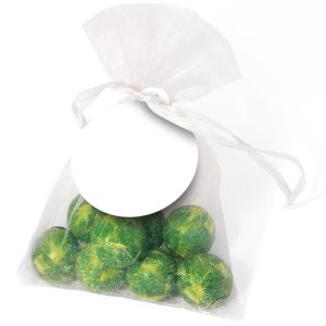 Chocolate Sprout Organza Bags