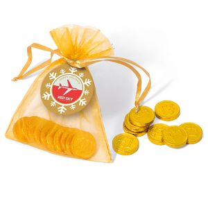 Christmas Chocolate Coin Bags