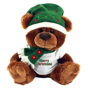 Christmas Teddy T Shirt Bears printed with company logo