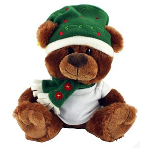 Custom Branded Christmas Teddy T Shirt Bears for Giveaway Gifts