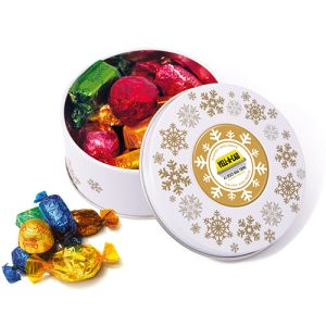 Choose from Quality Street, Celebrations or shortbread to fill these tins.