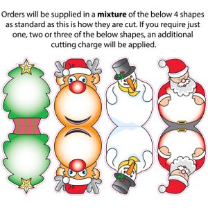 Standard orders will contain a mixture of the 4 different decorations.