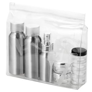 Airline Approved Alu Bottle Set in Clear