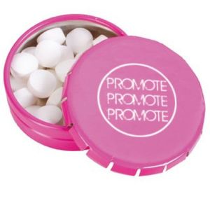 Promotional Click Mint Tins with company logos