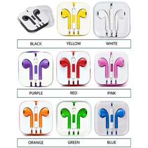 Branded earphones for marketing campaigns colours