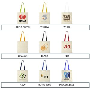 Coloured Handle Cotton Tote Bags