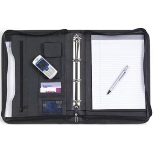 A4 Diplomat Zipped Ringbinder Folders in Black