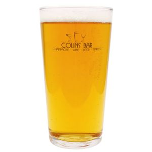 Promo pint glasses for event merchandise