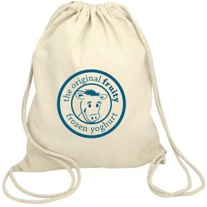 Cotton Drawstring Back Pack in Natural