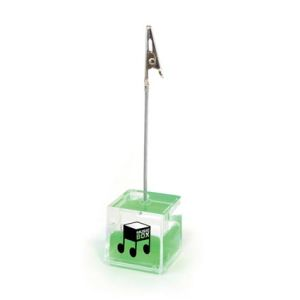 Cube Photo Holders in Translucent/Green