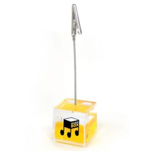 Cube Photo Holders in Translucent/Yellow