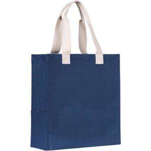 Dargate Jute Tote Bags in Navy