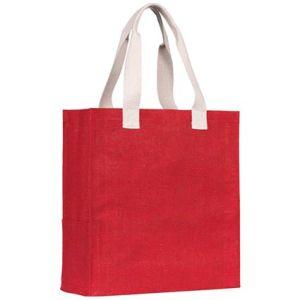 Dargate Jute Tote Bags in Red
