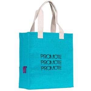 Dargate Jute Tote Bags in Turquoise