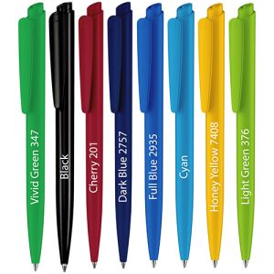 This branded pen is available in a wide range of colours.
