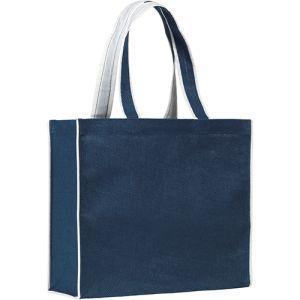Davington Coloured Jute Bags in Navy