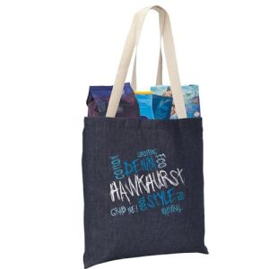 Denim Tote Bags in Blue
