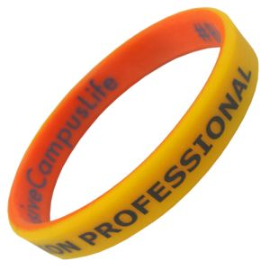 Dual Layer Silicon Wristbands