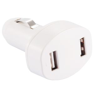 Duo USB Car Chargers in White