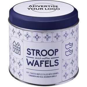 Dutch Stroop Caramel Waffles in White